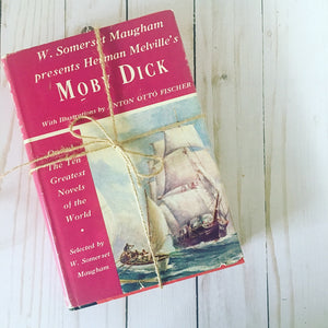 Hardcover vintage book: Moby Dick by Herman Melville