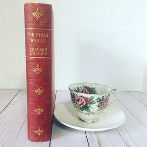 Hardcover vintage book: Christmas Books by Charles Dickens