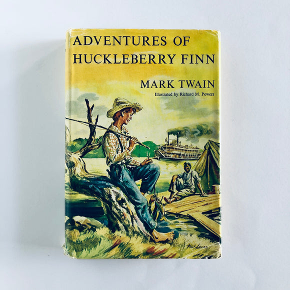 Hardcover book: Adventures of Huckleberry Finn by Mark Twain