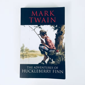 Paperback book: The Adventures of Huckleberry Finn by Mark Twain