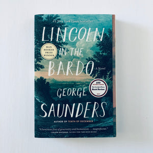 Paperback book: Lincoln in the Bardo by George Saunders