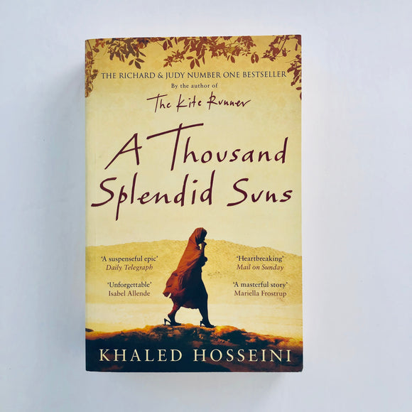 Paperback book: A Thousand Splendid Suns by Khaled Hosseini