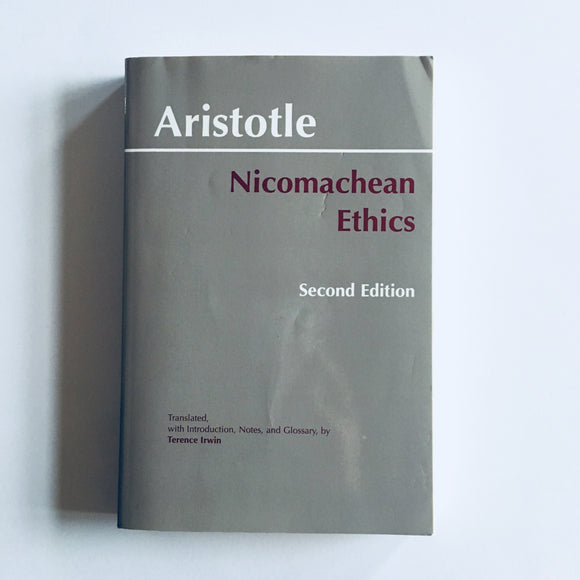 Paperback book: Nicomachean Ethics by Aristotle