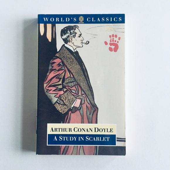 Paperback book: A Study in Scarlet by Sir Arthur Conan Doyle