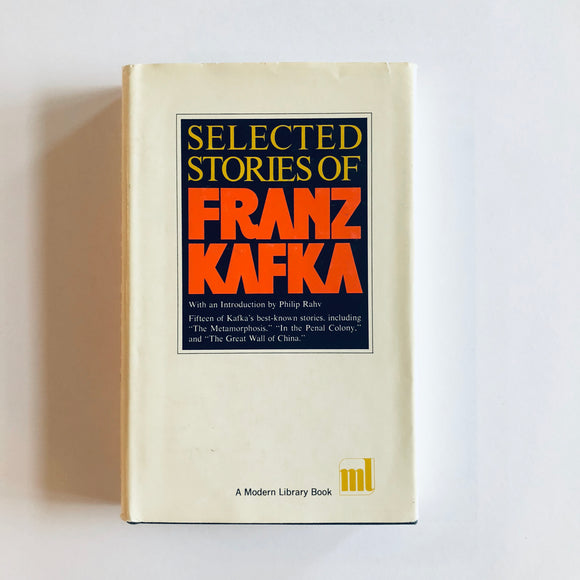 Hardcover book: Selected Stories of Franz Kafka