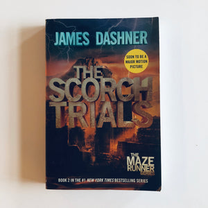 Paperback book: The Scorch Trials by James Dashner