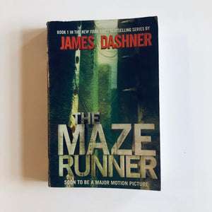 Paperback book: The Maze Runner by James Dashner