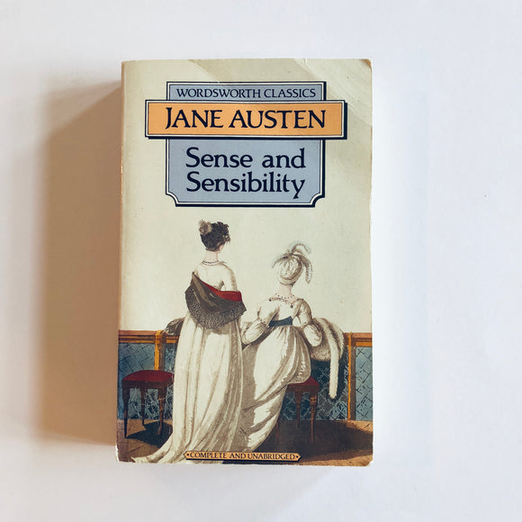 Paperback book: Sense and Sensibility by Jane Austen