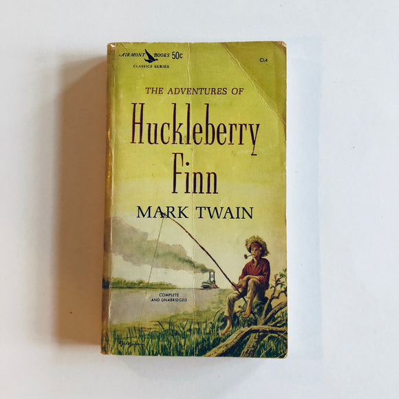 Paperback book: Huckleberry Finn by Mark Twain