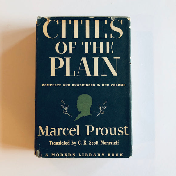Hardcover book: Cities of the Plain by Marcel Proust