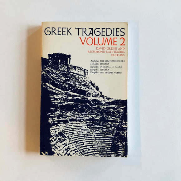 Paperback book: Greek Tragedies vol 2