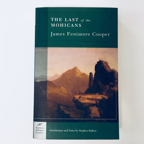 Paperback book: The Last of the Mohicans by James Fenimore Cooper