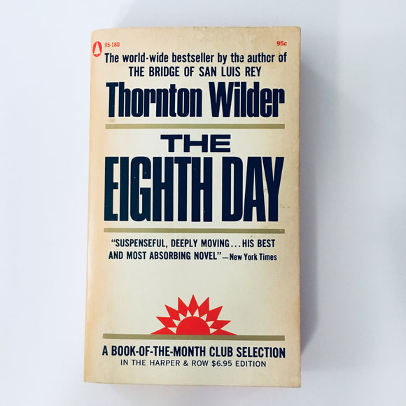 Paperback book: The Eighth Day by Thornton Wilder