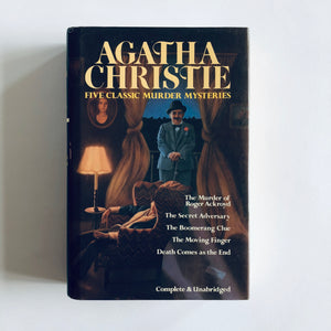 Hardcover book: Five Classic Murder Mysteries by Agatha Christie
