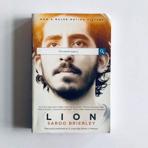 Paperback book: Lion by Saroo Brierley