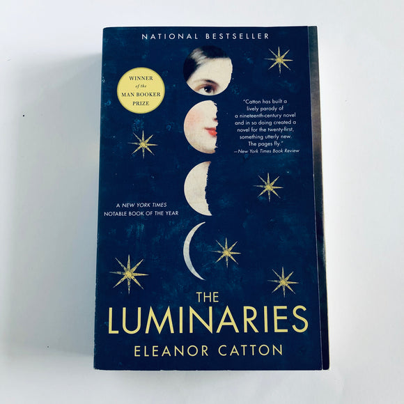 Paperback book: The Luminaries by Eleanor Catton