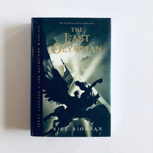 Hardcover book: The Last Olympian by Rick Riordan