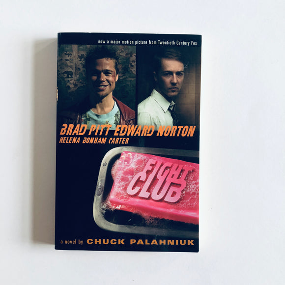 Paperback book: Fight Club by Chuck Palahniuk