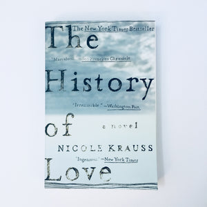 Paperback book: The History of Love by Nicole Krauss