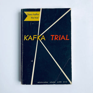 Paperback book: The Trial by Franz Kafka