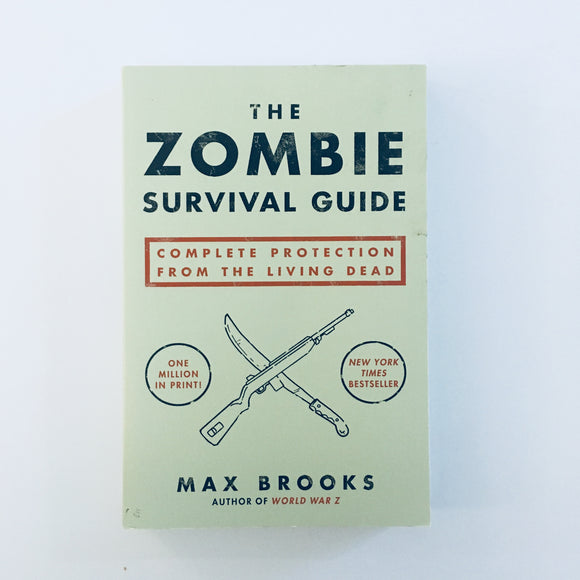 Paperback book: The Zombie Survival Guide by Max Brooks