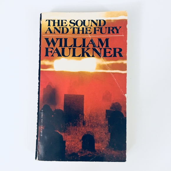 Paperback book: The Sound and the Fury by William Faulkner