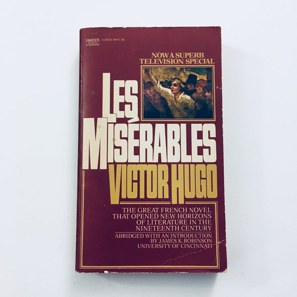 Paperback book: Les Miserables by Victor Hugo