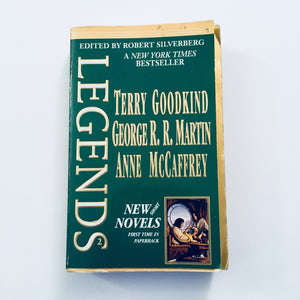 Paperback book: Legends (Three Novels) by Terry Goodkind, George R.R. Martin, and Anne McCaffrey