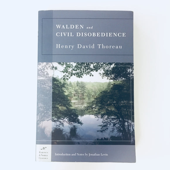 Paperback book: Walden and Civil Disobedience by Henry David Thoreau