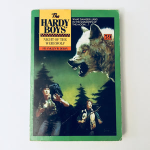 Paperback book: The Hardy Boys: Night of the Werewolf by Franklin W. Dixon