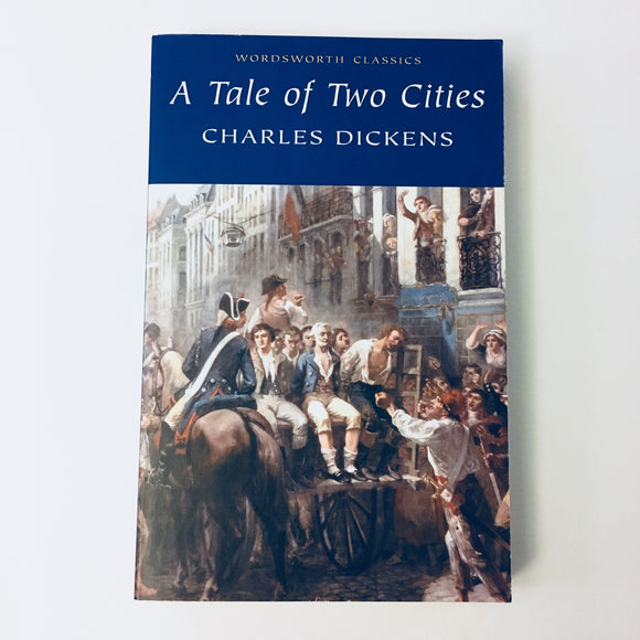 Paperback book: A Tale of Two Cities by Charles Dickens