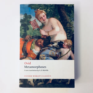 Paperback book: Metamorphoses by Ovid