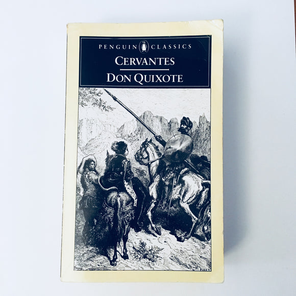 Paperback book: Don Quixote by Cervantes