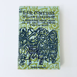 Paperback book: Four Comedies by William Shakespeare (including A Midsummer Night's Dream, As You Like It, The Tempest, and Twelfth Night)