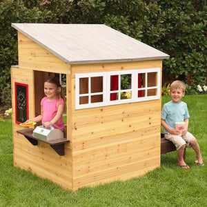 KidKraft Modern Outdoor Playhouse [product_type} - Outdoor Furniture and Fittings