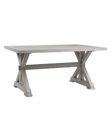 Retro White Aluminium Dining Table