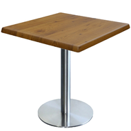 Square Cafe Table with Alexi base