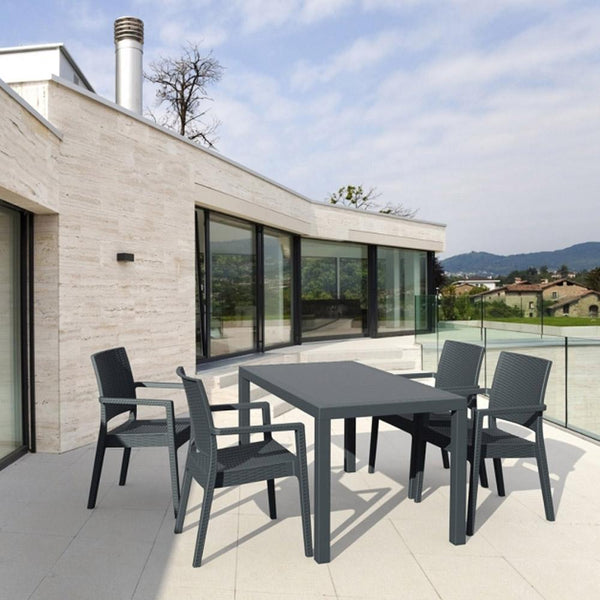 Orlando Outdoor 5 Piece Dining Suite in Anthracite