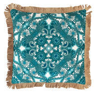 Sparkling Cushion Cover 50cm x 50cm with Jute Fringing