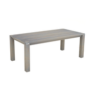 Solid Timber 2m Dining Table in Grey Brush Finish
