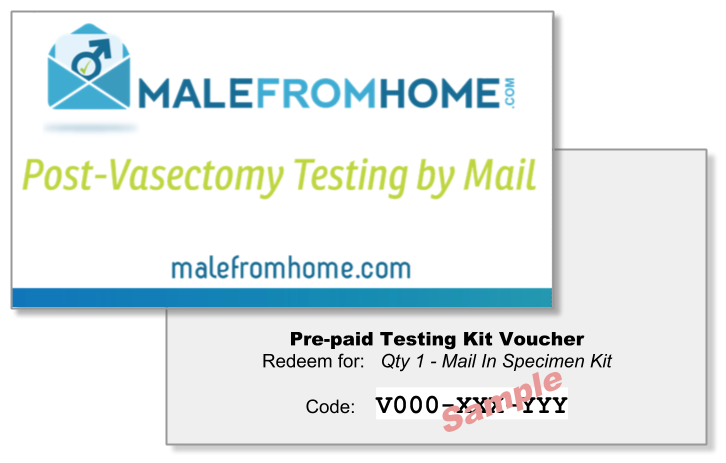 Voucher Cards for Post Vasectomy Testing Kits