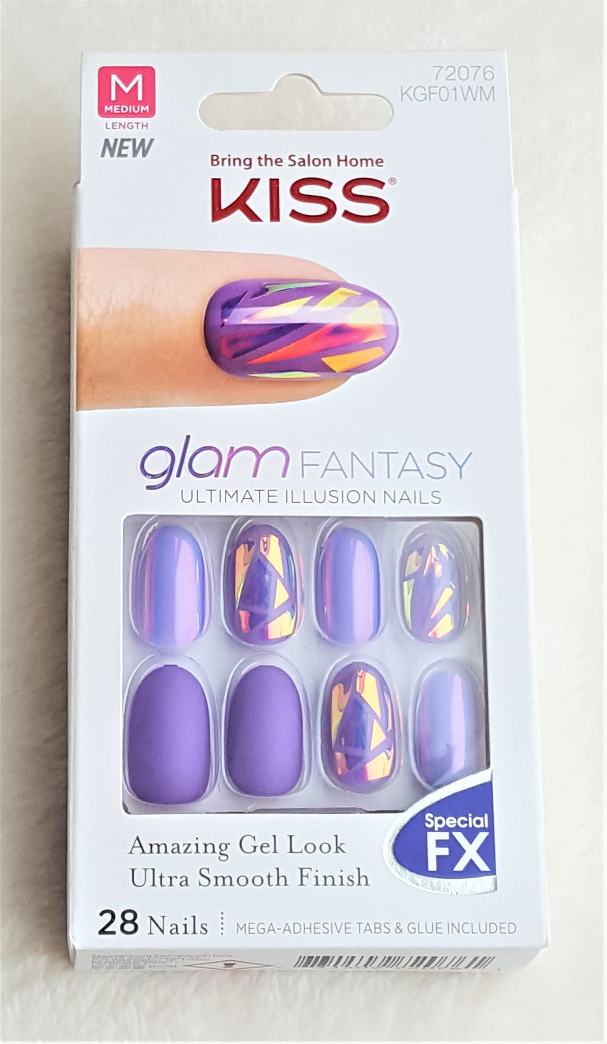 KISS glam FANTASY Glue/Press-Ons ULTIMATE ILLUSION 28 NAILS, TAN ...