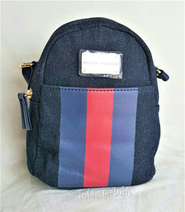 ff34b818e TOMMY HILFIGER NAVY BLUE JEANS Backpack style MINI X-body Bag -Retail $75 -