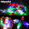 100 Pcs / Lot LED Finger Lights Glowing Dazzle Colour