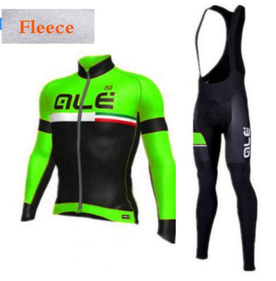 Cycling Kit Green Yellow Red Blue Ropa Ciclismo