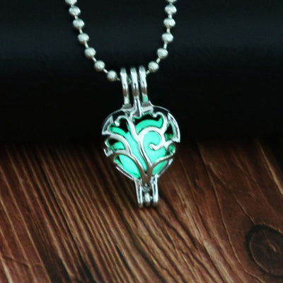 Tree of life Dark Luminous Necklaces Silver Color Chain Necklace Glowing in Dark Pendant Necklaces Collared Maxi Choker Jewelry