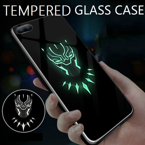 online retailer 76253 76004 Black Panther Glow In The Dark Tempered Glass Phone Case