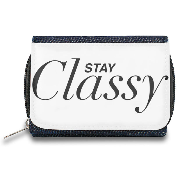 Stay classy Zipper Wallet - Wallet Dealer