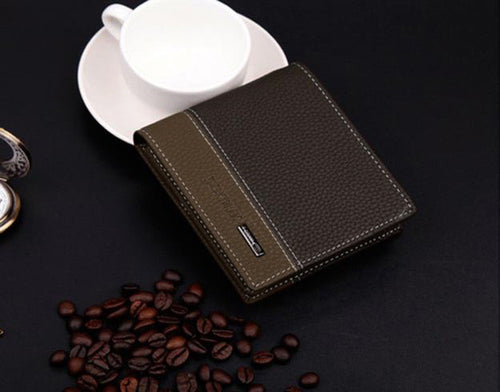 Mens Leather Bifold Money Card Holder