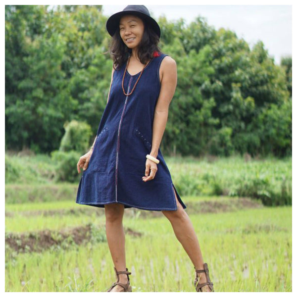 Abaca...Indigo Dress